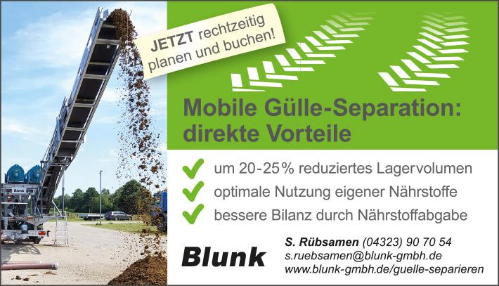 Mobile Gülle Separation jetzt mit Blunk planen und umsetzen