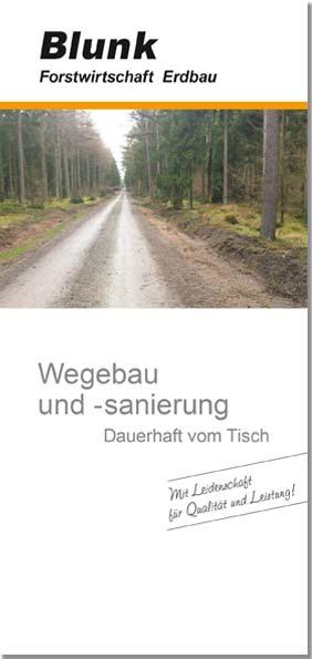 Blunk Folder Wegebau -Titelseite