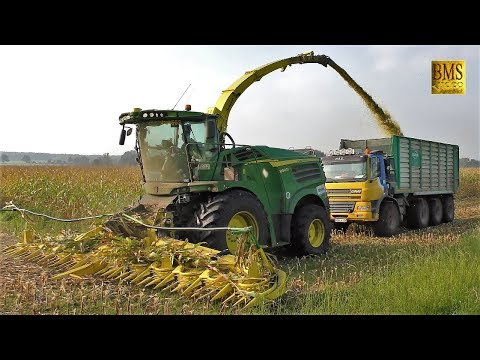 Maishäckseln - Häcksler John Deere 8800i Biogasanlage - Maisernte - Maize harvest Germany - LU Blunk
