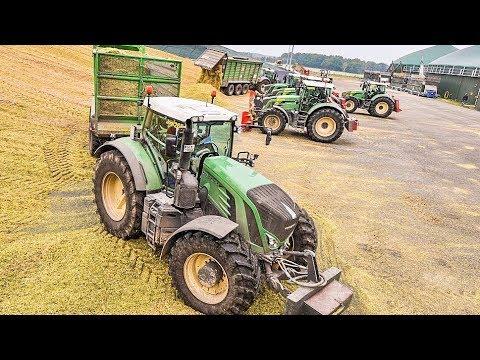 Lohnunternehmen BLUNK häckselt Mais mit Krone BiG X und Fendt Traktoren | AgrartechnikHD