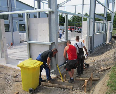 Baufortschritt im Juli 2014 bei Blunk in Lalendorf