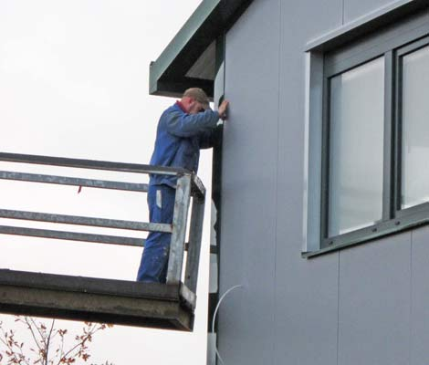 Schnappschuss 1 vom Baufortschritt des neuen Bürogebäudes des Lohnunternehmens Blunk in Lalendorf