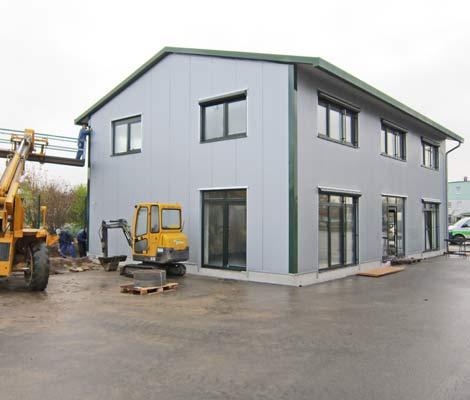 Schnappschuss 2 vom Baufortschritt des neuen Bürogebäudes des Lohnunternehmens Blunk in Lalendorf
