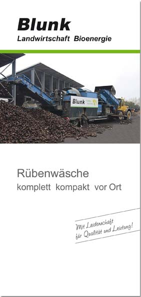 Blunk Folder Rübenwäsche - Titelseite