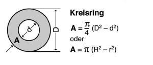Blunk Formelsammlung Berechnung Kreisring