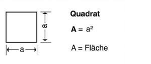 aus der Blunk-Formelsammlung Berechnung eines Quadrats