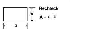 Blunk Formelsammlung Berechnung Rechteck