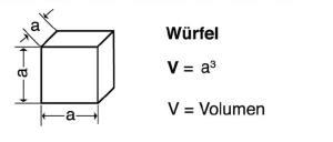Blunk Formelsammlung Berechnung Würfel