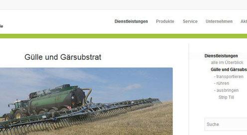 Übersicht der Leistungen zur Verwertung von Gülle und Gärsubtrat des Lohnunternehmens Blunk GmbH