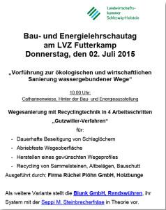 Blunk Details Bau- und Energielehrschautag