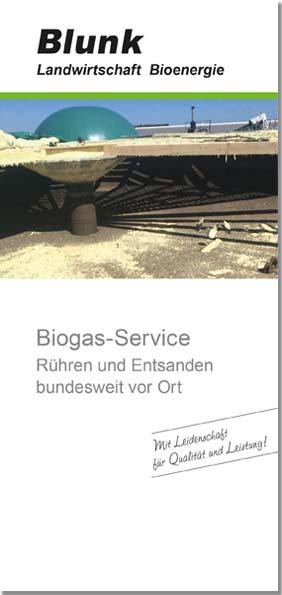 Blunk Folder Biogasservice -Titelseite