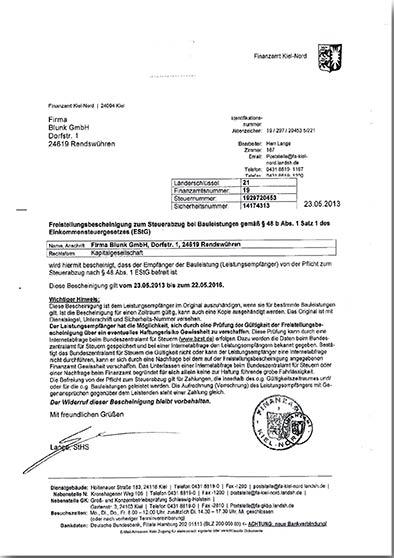 Blunk-Freistellungsbescheinigung-Steuerabzug