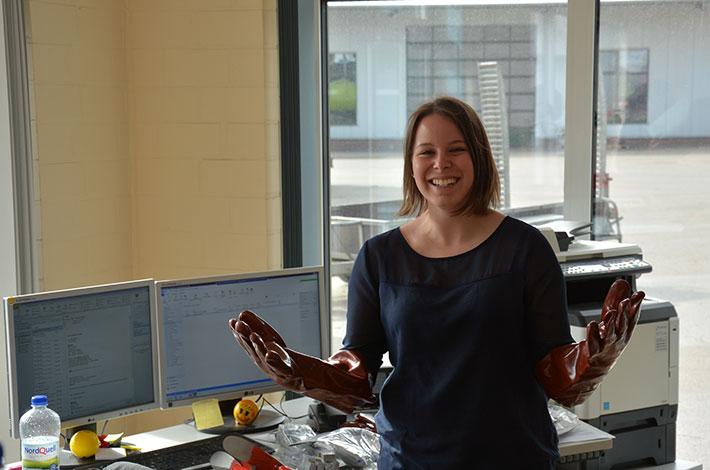 Tanja Senkbeil bei Lohnunternehmer Blunk in Rendswühren