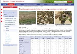 Screenshot Pflanzenschutzdienst