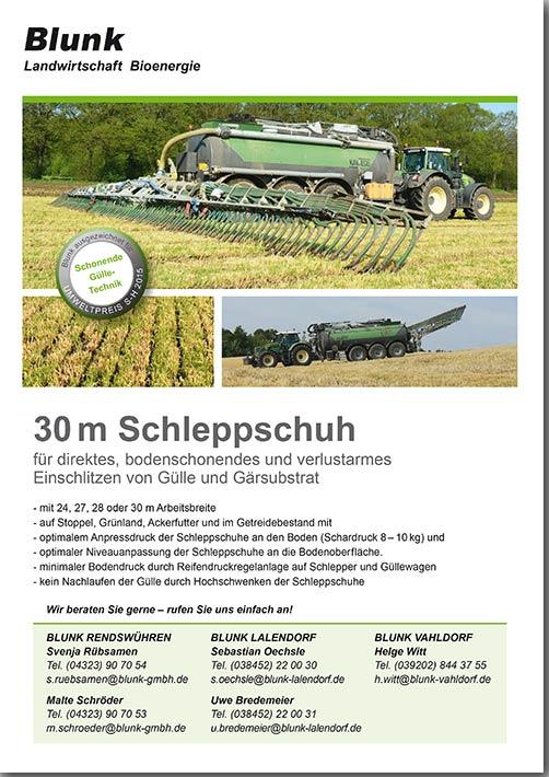 Blunk Schleppschuh 30m -Titelseite