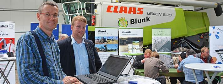 Blunk Biogastag Jens Rückert mit Jochen Blunk -titel