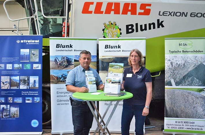 Blunk Biogastag Michael Köpke mit Svenja Rübsamen