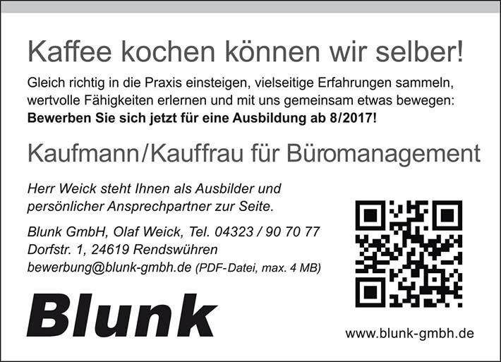 blunk anzeige ausbildung brokauffrau brokaufmann - Bewerbung Ausbildung Kauffrau Fr Bromanagement