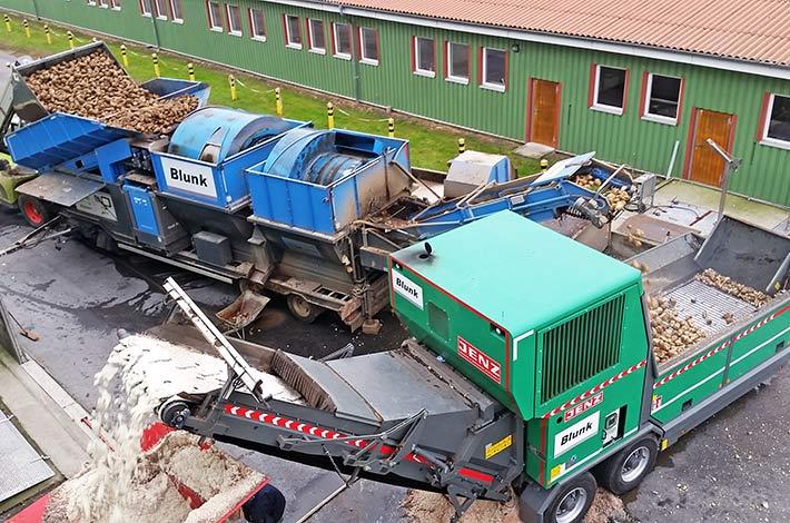 Blunk Kombi Rübenwäsche und Biomasseaufbereiter