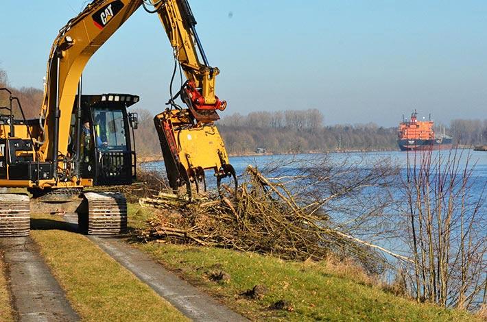 Blunk Forstarbeiten Nord-Ostsee-Kanal