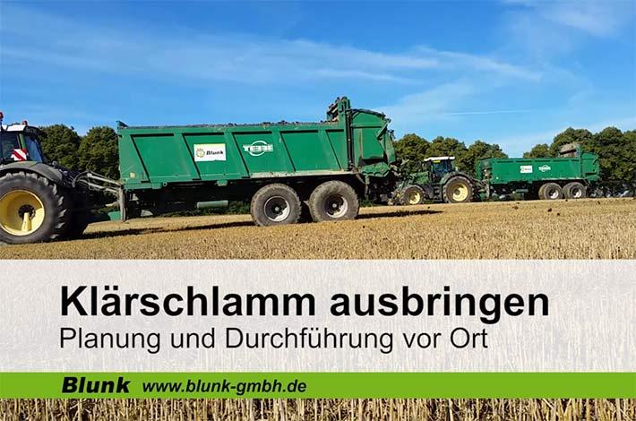 Blunk Klärschlamm-Service Video