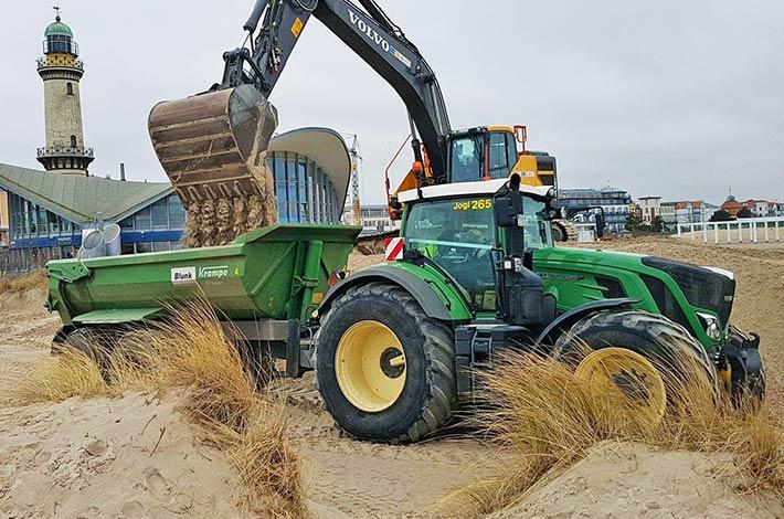 Blunk Sand fahren Warnemünde