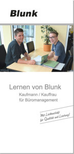 Blunk Folder Ausbildung Büromanagement