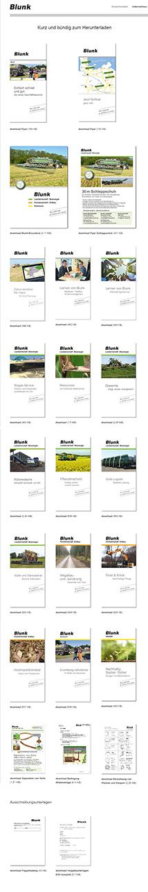 Screenshot deer Download Seite der Blunk GmbH