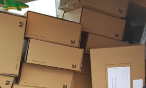 Weihnachts-Päckchen für Blunk-Kunden