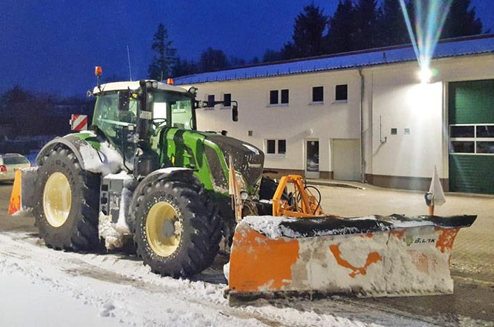 2018 Blunk beim Winterdienst auf Rügen