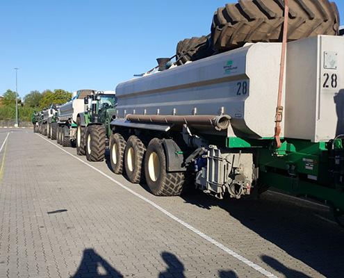 Blunk Maschinen warten auf Ostsee-Fähre