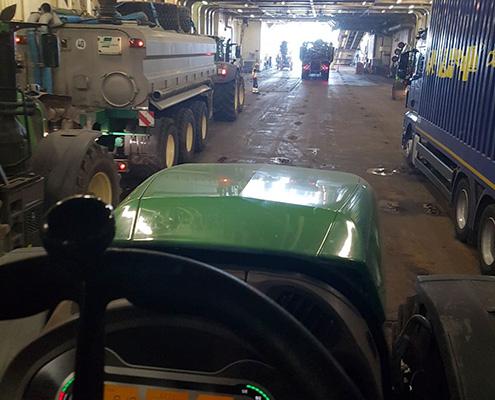 Blunk Maschinen auf Ostsee-Fähre