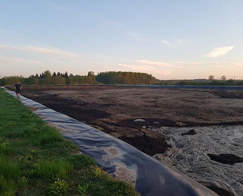 Guelle Lagune in Lettland