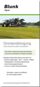 Blunk Flyer Grünlanddüngung