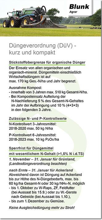 Blunk Einleger Düngeverordnung SH
