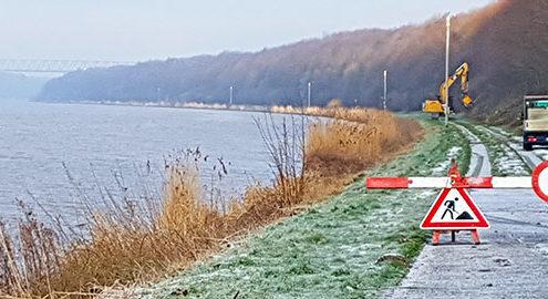 Blunk Böschungsarbeiten Nord-Ostsee-Kanal