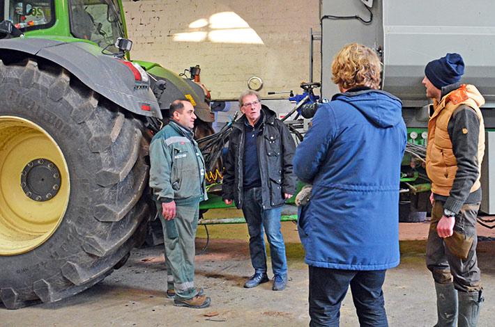 Blunk Dreharbeiten erster Film Werkstatt