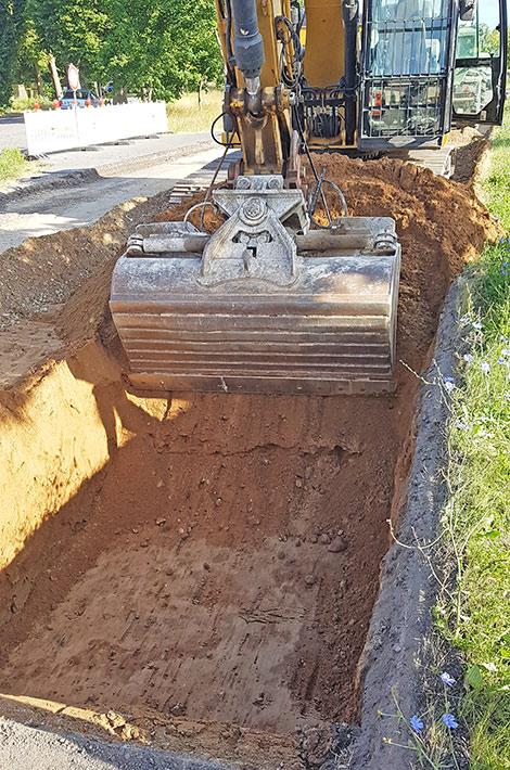 Blunk Straßenbau Ausbaggern