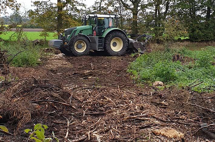 Blunk Testeinsatz im Forst mit Forstmulcher FAE - 2