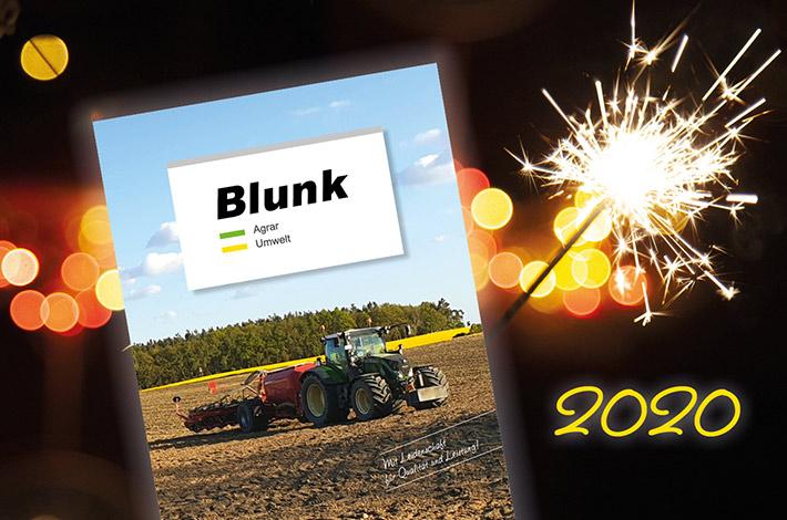 Blunk Neujahrsgruß - © Foto mit Wunderkerze Egor - AdobeStock_309051587