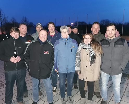 Blunk Gruppe auf Betriebsausflug zum Boßeln in Wismar - Mannschaft 1