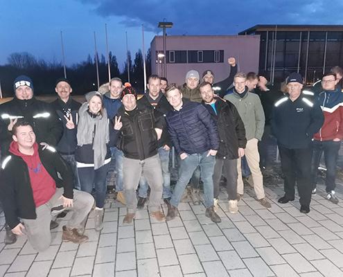 Blunk Gruppe auf Betriebsausflug zum Boßeln in Wismar - Mannschaft 2