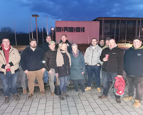 Blunk Gruppe auf Betriebsausflug zum Boßeln in Wismar - Mannschaft 3