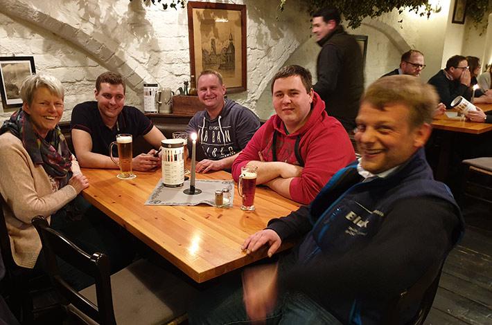 Blunk Gruppe auf Betriebsausflug nach Wismar - Abendessen 3