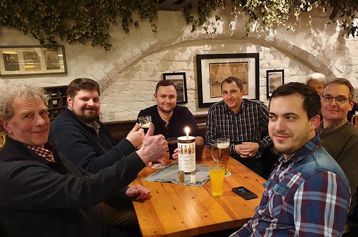 Blunk Gruppe auf Betriebsausflug nach Wismar - Abendessen 4