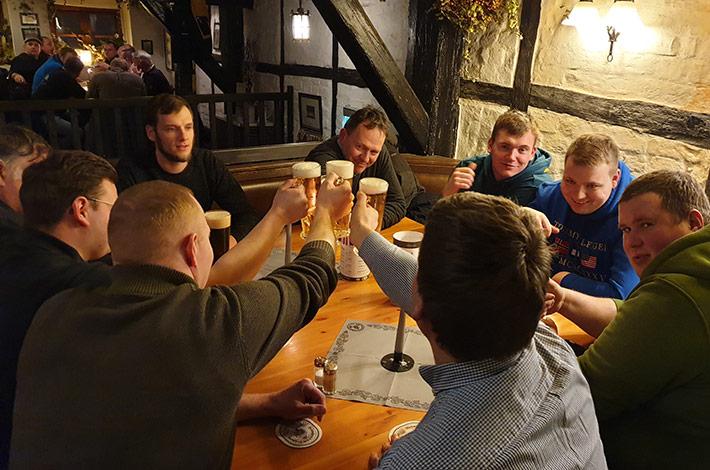 Blunk Gruppe auf Betriebsausflug nach Wismar - Abendessen 7