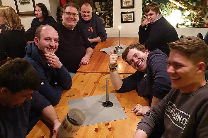 Blunk Gruppe auf Betriebsausflug nach Wismar - Abendessen 8