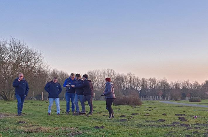 Blunk Gruppe auf Betriebsausflug zum Boßeln in Wismar 7
