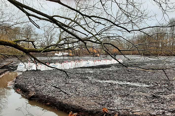 Blunk: Entschlammung Regenrückhaltebecken _ 2