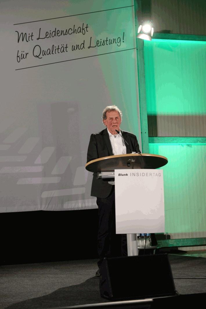 Jogi Blunk begrüßt die Gäste zum Blunk-Insidertag 2020